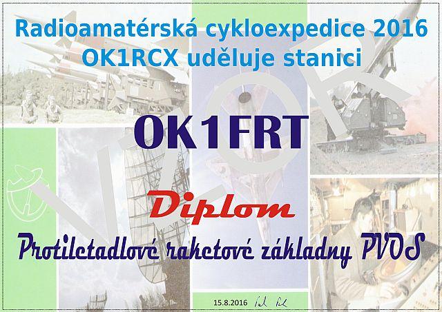 Diplom OK1RCX 2016